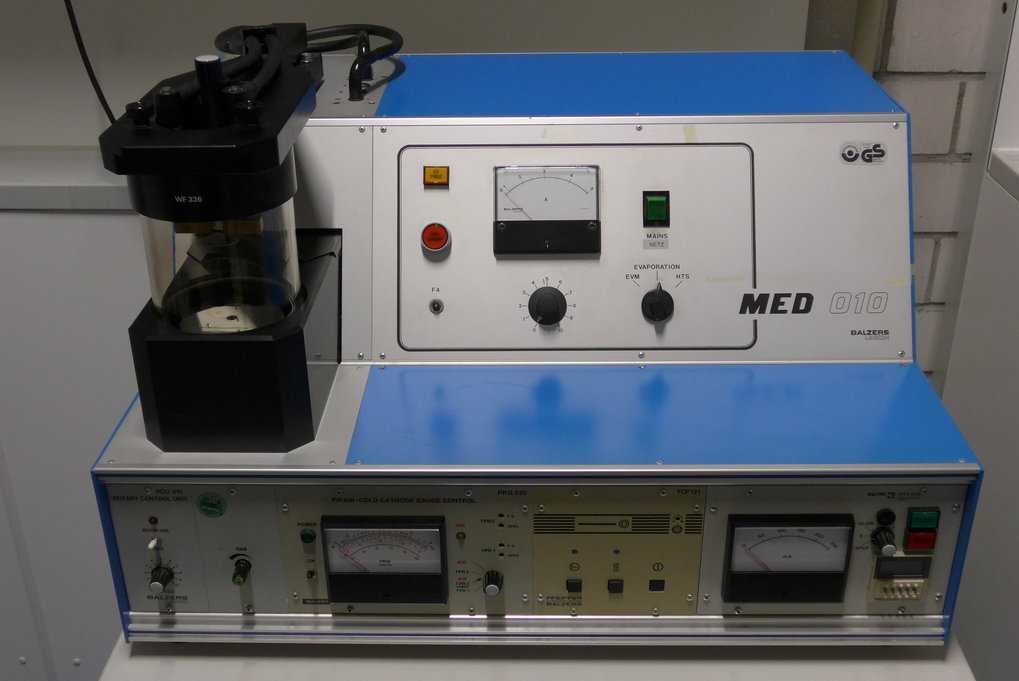 "<div style=""text-align: center;"">MED 010 Balzers Union Carbon Coater</div>"