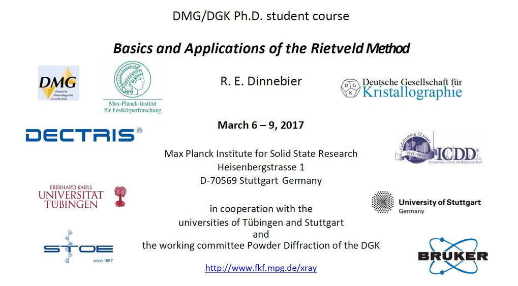 March 6 - 9, 2017, Stuttgart   Under the auspices of the DMG and the DGK   Report of the course (click here)