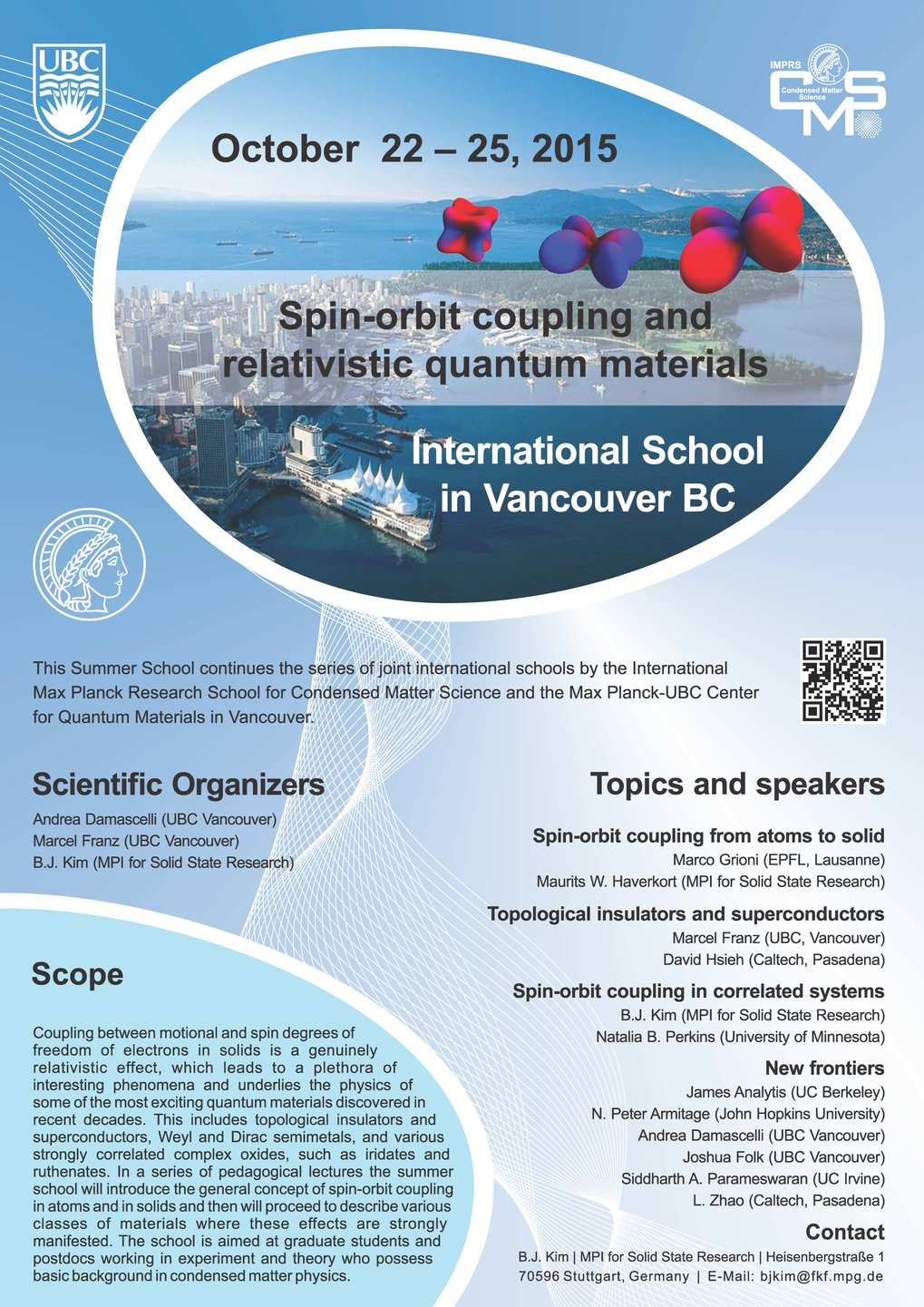 <strong>Summer school 2015, Vancouver<br /></strong>