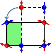 The macroscopic properties of materials with strongly correlated electrons are influenced not only by atomic-scale spin and charge correlations, but also by emergent domain structures on sub-micrometer length scales. Neutron Larmor diffraction and dilatometry have yielded new insights into the mechanisms driving the formation of  mesoscopic magnetic and structural domains in the antiferromagnetic parent compound of a high-temperature superconductor.