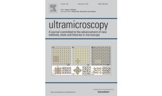 We are pleased to note that a figure from Dr. Yi Wang's recent paper, Oxygen octahedra picker: a Software tool to extract quantitative Information from STEM Images', was selected for the cover of the September 2016 volume(168) of Ultramicroscopy.