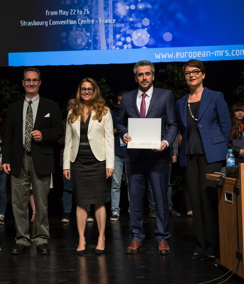 "We are proud to announce that Mr. Y. Eren Suyolcu, PhD student in the Stuttgart Center for Electron Microscopy has been awarded the ""Young Scientist Award"" at the E-MRS 2017 Spring Meeting in Strasbourg, France. The prize was awarded for the research project ""Dopant Size Effects on Interfacial Superconductivity in Lanthanum Cuprate Bilayers"" with co-authors Y. Wang, F. Baiutti, G. Gregori, G. Cristiani, W. Sigle, J. Maier, P.A. van Aken and G. Logvenov."