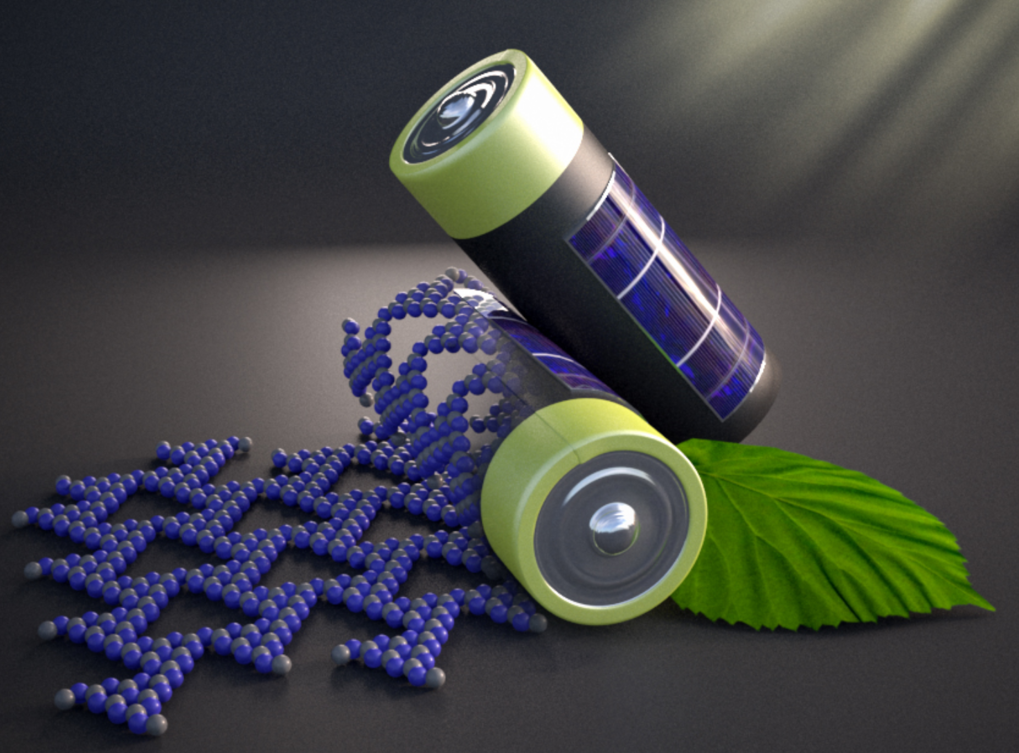 Solar cell and battery combined.   Advanced Materials 2018, 1705477 (2018)© Christoph Hohmann, Nanosystems Initiative Munich