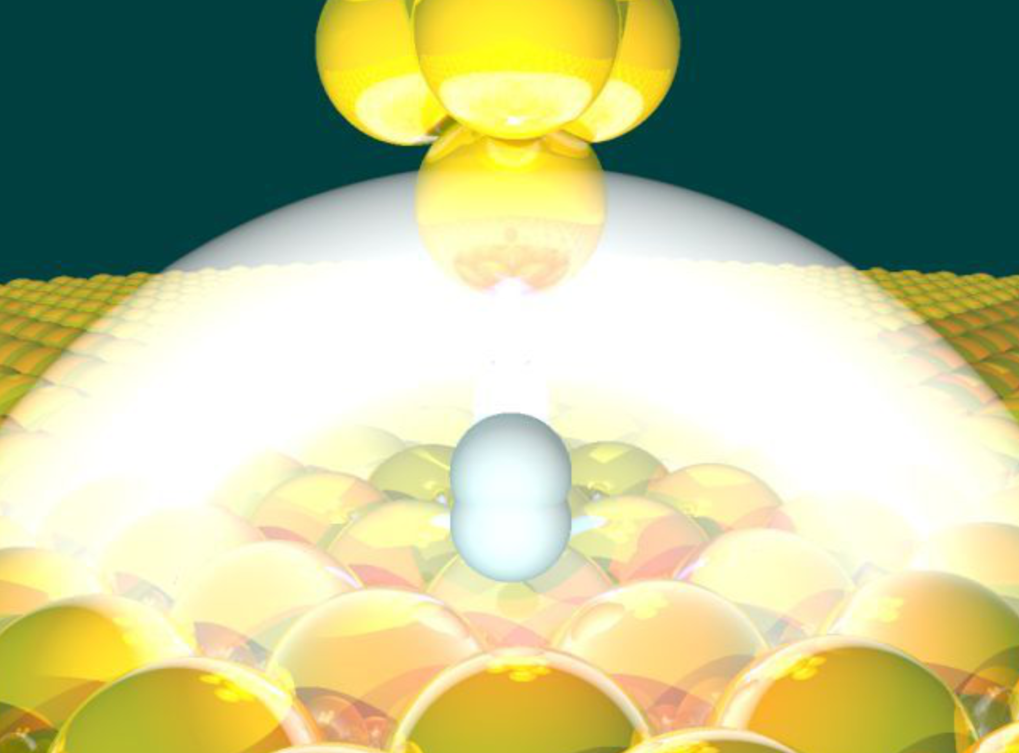 Single hydrogen molecule as dimmer switch.    Nature 554, 341-345 (2019)