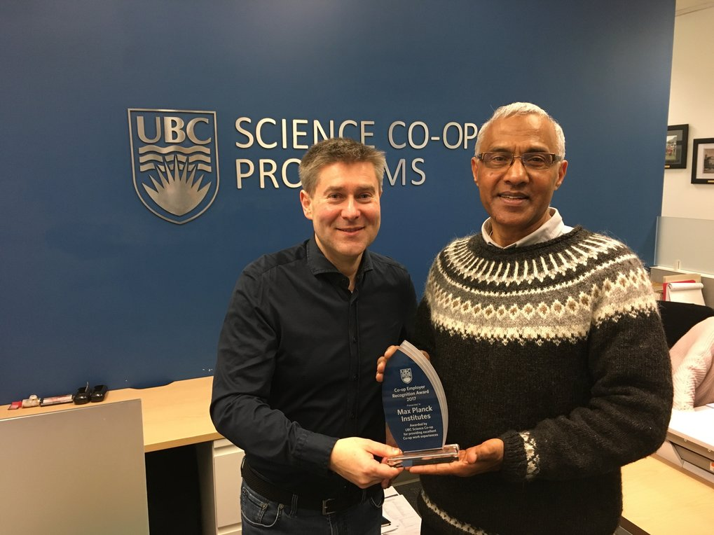 Co-op Employer Award 2017 of the University of British Columbia (Canada)
